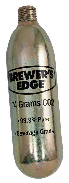 74 Gram Brewer's Edge® CO2 Cartridge (No Air Shipment)