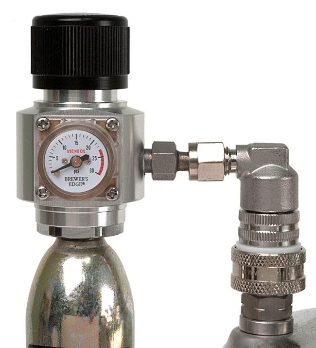 0-30 PSI Ball Lock Brewer's Edge® Mini Regulator