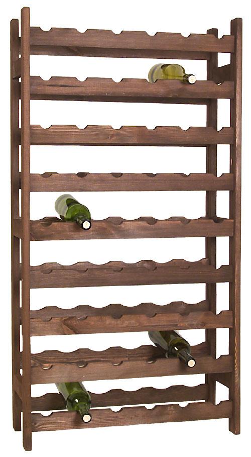 54 Bottle Wooden Wine Rack