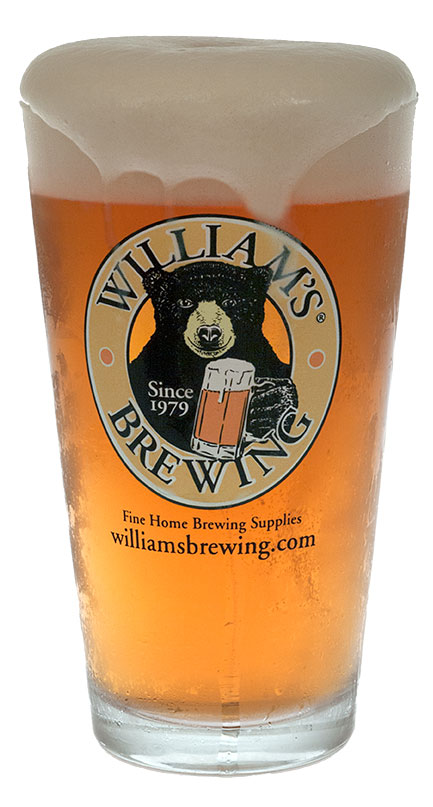 William's Nucleated Pint Glass