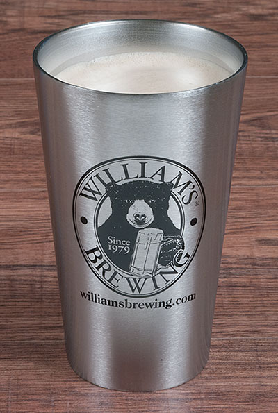 William's Insulated Stainless Beer Glass