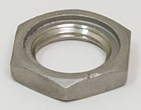 "Stainless ½"" NPT Backnut With O Ring Recess"