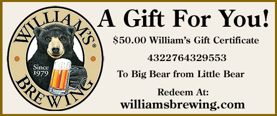 $500.00 William's Gift Certificate