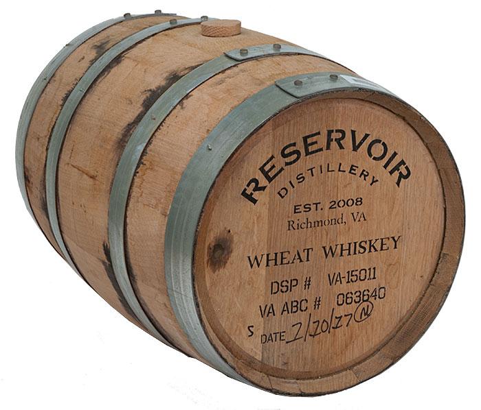 Drained 5 Gallon Reservoir Wheat Whiskey Barrel