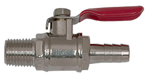 "Shut Off Valve W/Check And 5/16""  Hose Barb"