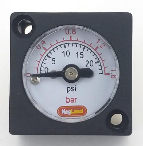 Mini Regulator Gauge 0-23 PSI