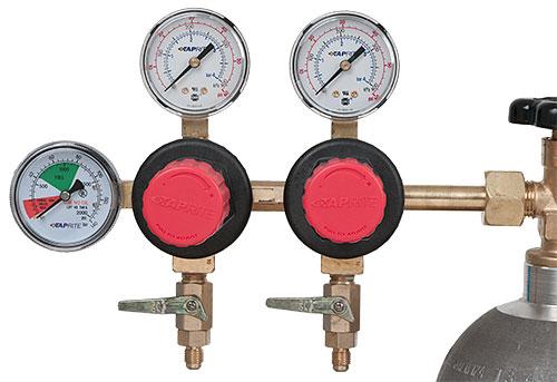Taprite Twin Gas Regulator - no valves