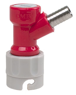 "CMB Gas Pin Lock With 3/8"" Hose Barb"