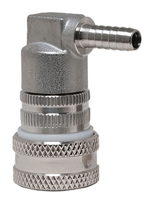 Keg Land Stainless Gas Ball Lock, Barbed