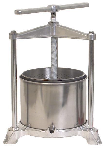 180 Oz. Stainless/Aluminum Fruit Press