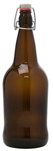1 Liter Amber Ez Cap Bottles -Case Of 12 (Actual Shipping Item)