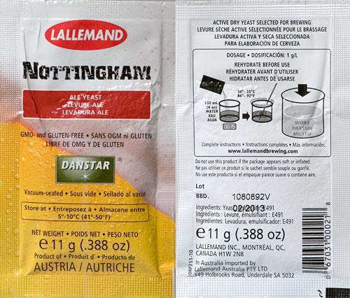Nottingham Ale Dry Yeast