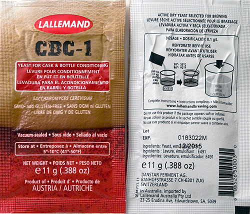 CBC-1 Cask And Bottling Conditioning Yeast