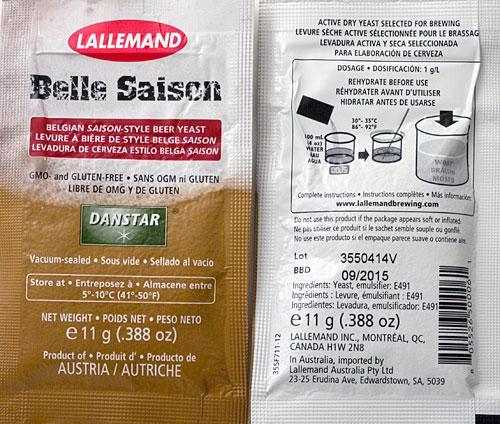 Belle Saison Dry Saison Yeast