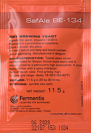 Safale Be-134 Dry Saison Yeast