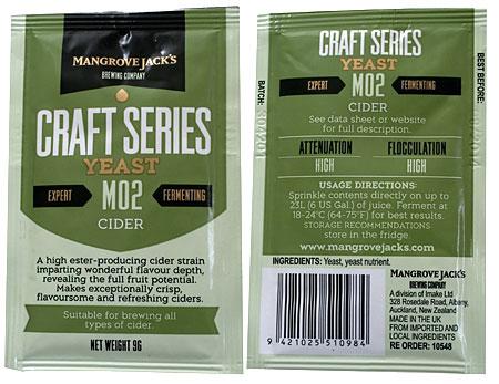 Mangrove Jack's M02 Dry Cider Yeast