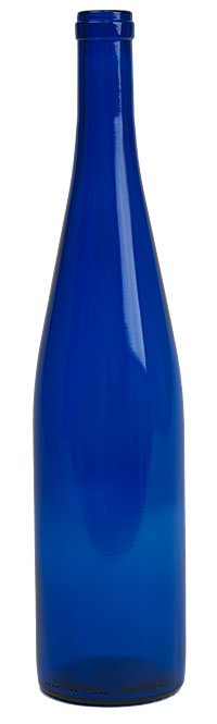 750 Ml Blue Wine Bottles -12 (Actual Cost Shipping Item)