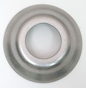 Brushed Stainless Faucet Shank Flange