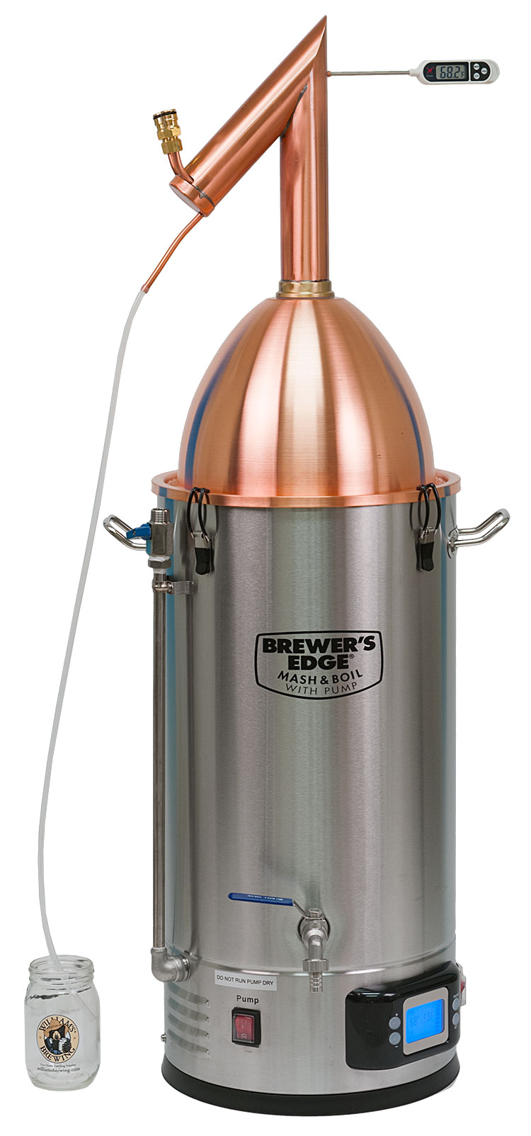 Mash & Boil With Pump Pot Still Dome Package